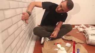 A aplicação de tecido em paredes