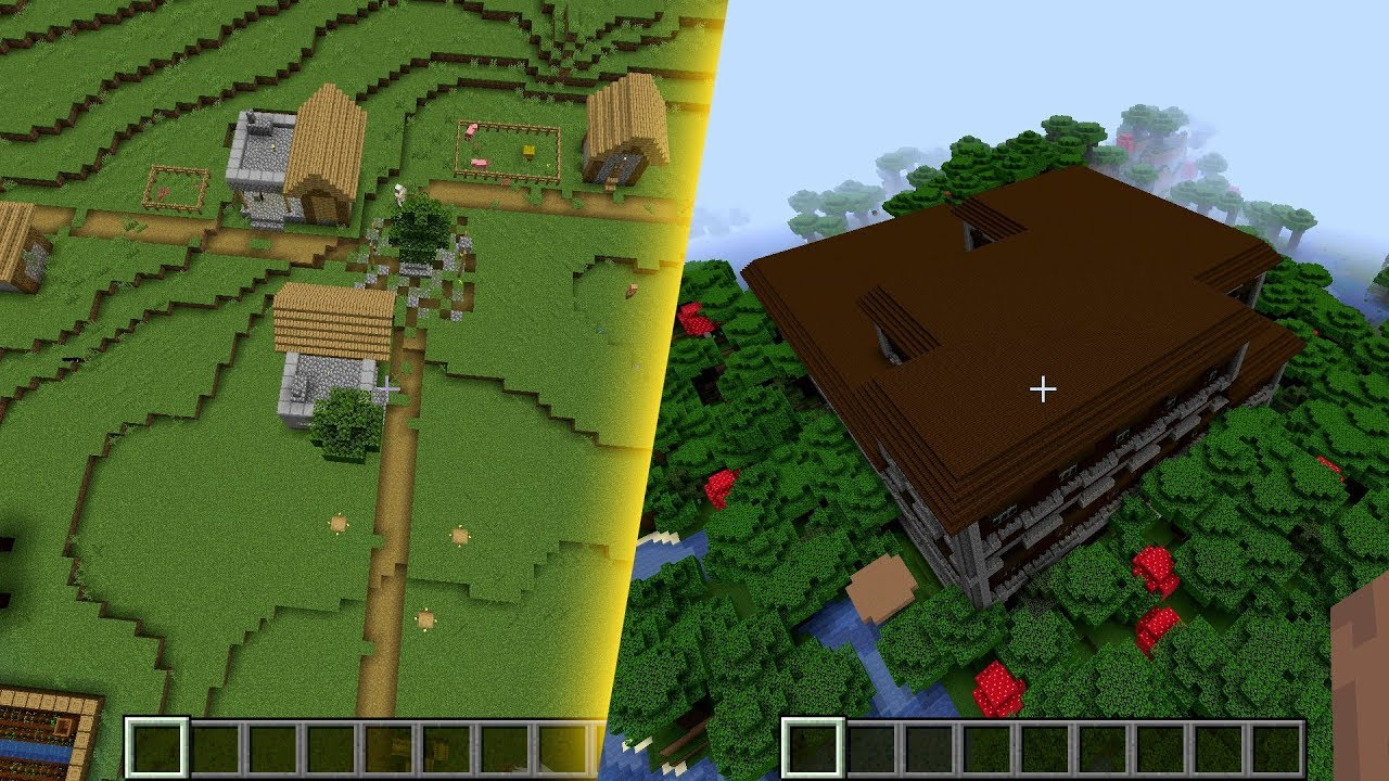 Minecraft 1.15-pre3 Seed: Double blacksmith at spawn and mansion close by MINECRAFT SEED 869037034279324019