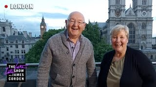 James's Parents Live from Central Hall - #LateLateLondon - dooclip.me