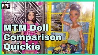 Made To Move Barbie Doll & Barbie Fashionistas Comparison Quickie pt 1