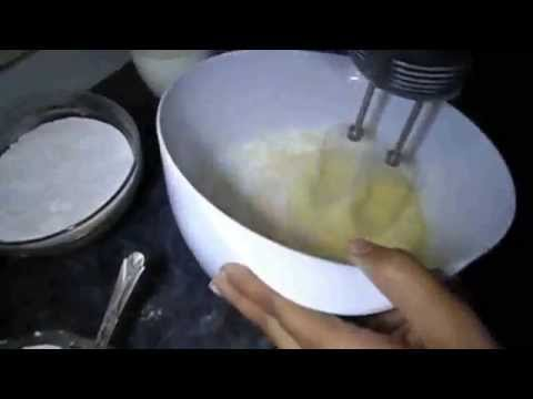Video Pakistani desi food simple plain cake making without micro recipe