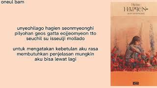 Happen - Heize (Feat. 송중기) || lirik terjemahan Indonesia