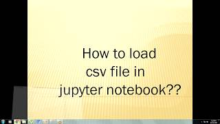 How to import CSV file into Jupyter notebook using pandas in tamil?