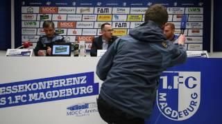Konferenz vor Spiel gegen Köln