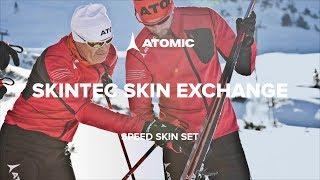 Видео беговых лыжах Atomic c с технологией Skintec