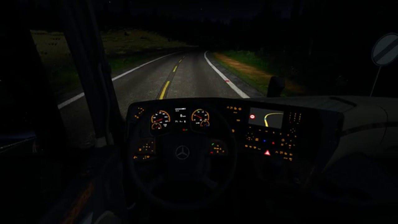 Mercedes benz mp4 orange dashboard mod for ets 2 for Mercedes benz dashboard lights not working