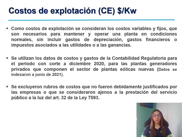 Sesión Explicativa para conocer propuesta tarifas eólicas nuevas