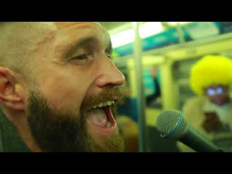 Here I am performing with Apartment Sessions on a the J subway line!