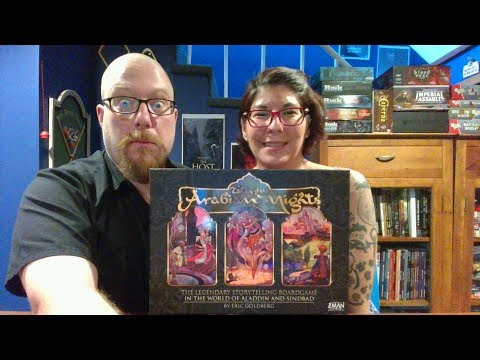 The Board Game Kaptain's review and tutorial for Tales of the Arabian Nights