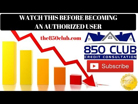 Watch This Before You Become An Authorized User - 850 Club Credit Consultation