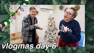 DECORATING OUR CHRISTMAS TREE! (vlogmas day 6)
