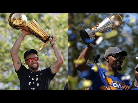 Kevin Durant & Stephen Curry Reactions from Warriors Championship Parade