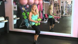 DUMBBELL: FULL BODY TABATA WORKOUT 4 MINUTES by Alli Kerr