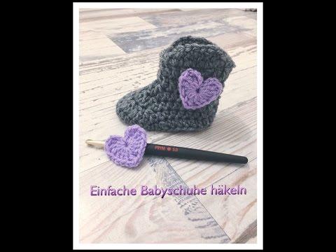Super Einfache Babyschuhe Häkeln Für Anfänger Claudetta Crochet