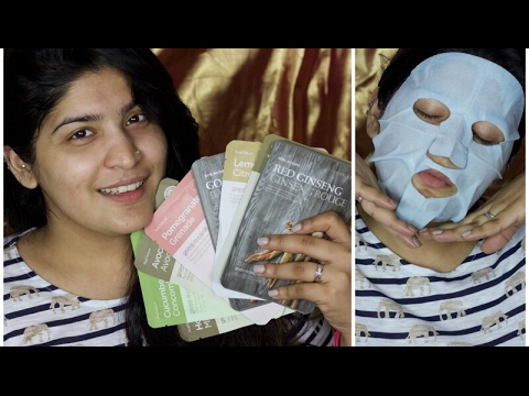 The Face Shop Sheet Mask Haul and Overview | Try on Review