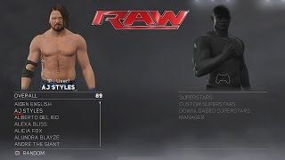 All WWE 2K17 In-Game Models and Overalls/Ratings! (Video)