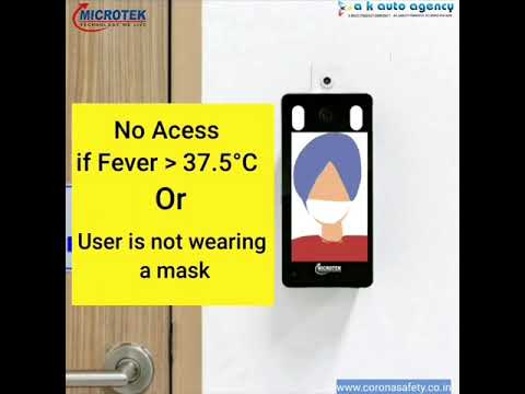 Microtek Temperature Measurement Face Recognition Attendance Management - Frt Pro Model