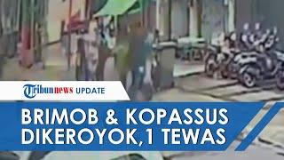 Rekaman CCTV Detik-detik Diduga Anggota Brimob dan Kopassus Dikeroyok hingga Satu Korban Tewas