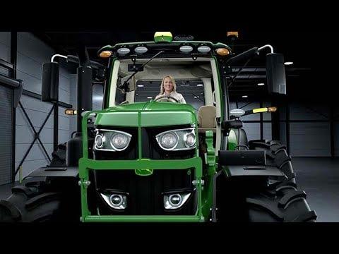 John Deere 6215R 215hk traktor - film på YouTube