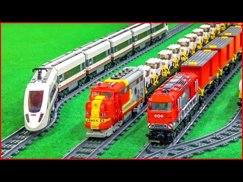 LEGO TRAIN COMPILATION All Time Construction Toy Fast Speed Build - UNBOXING