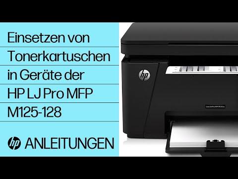 Einsetzen von Tonerkartuschen in Geräte der HP LaserJet Pro MFP M125-128 Druckerserie
