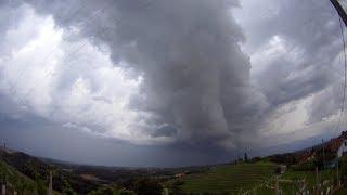 Nevihtni oblaki nad Prlekijo