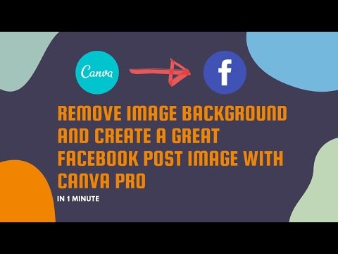 Remove image background and Create a great Facebook post image with Canva Pro