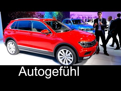 All-new VW Volkswagen Tiguan REVIEW at IAA motor show R-Line GTE & colours 2016 - Autogefühl