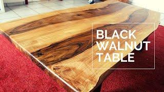 Large Live Edge Living Room Table - Black Walnut