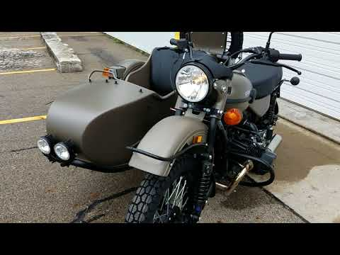 2018 Ural GearUp Olive Drab Sidecar Motorcycle with 2WD
