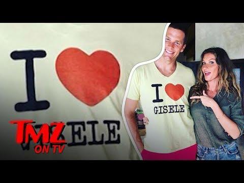 [TMZ] Tom Brady Wears 'I Heart Gisele' T-Shirt
