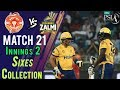 watch Peshawar Zalmi  Sixes | Peshawar Zalmi Vs Islamabad United  | Match 21 | 9 March | HBL PSL 2018