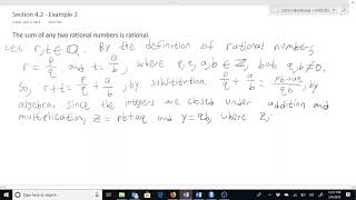 Proof of the Sum of Two Rational Numbers is Rational.