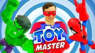 Человек Паук и Халк в шоу ТойМастер! Видео с супергероями.