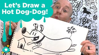 Let's Draw A Hot Dog-Dog!