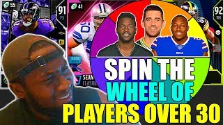 SPIN THE WHEEL OF PLAYERS OVER 30 YEARS OLD! INSANE FINISH! Madden 19 Ultimate Team Squad Builder