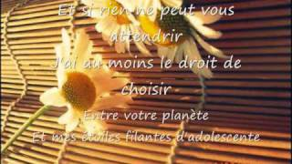 Un peu d'Innocence - Isabelle Boulay (Paroles)