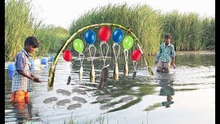 Trap Fishing Technique - Believe This Fishing?  - Funny Guys