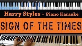 Harry Styles   Sign Of The Times   LOWER Key (Piano Karaoke  Sing Along)