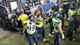 Seahawks vs Vikings MNF Player introductions.