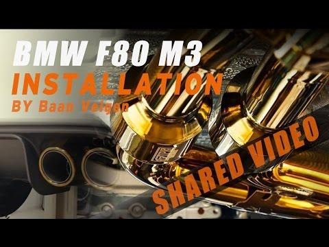 The Titanium iPE Golden Exhaust for BMW F80 M3