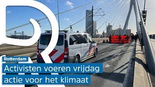 Extinction Rebellion blokkeert Erasmusbrug in protest voor het klimaat