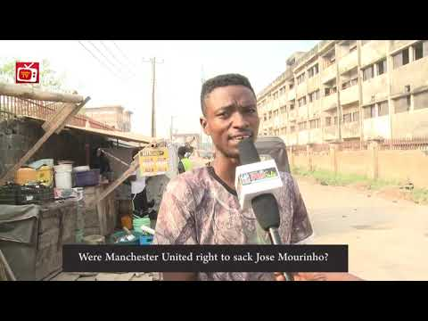 Watch Nigerian EPL Fans In 'Tongue of War' Over The Sacking of Jose Mourinho as Manchester United Manager