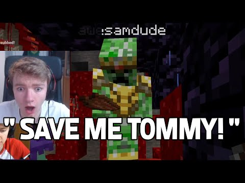 TommyInnit saves Awesamdude from the RED EGG on Dream SMP