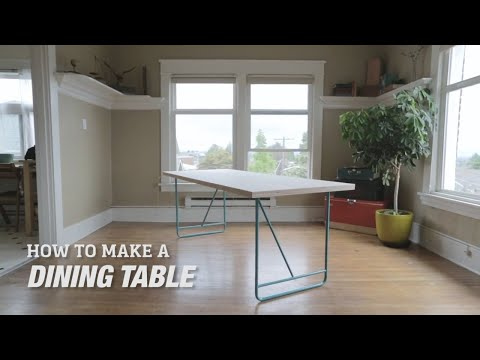 How to Make a DIY Mid-Century Modern Dining Room Table