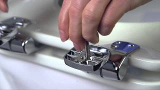 Bemis Adjustable Metal Hinge Highly Stylized Seat Installation