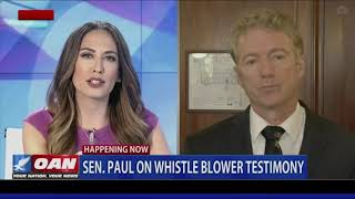 OAN speaks with Senator Rand Paul about the alleged whistleblower
