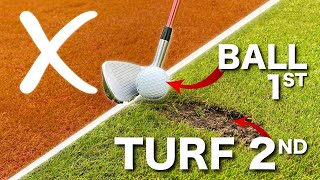 SIMPLE GOLF TIPS - HIT THE BALL THEN THE TURF
