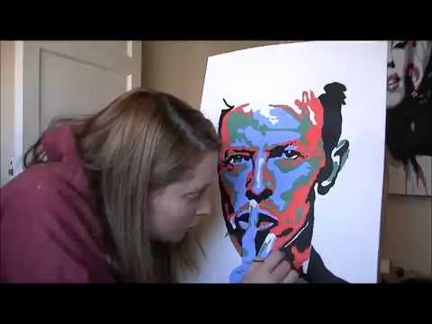 David Bowie pop art painting