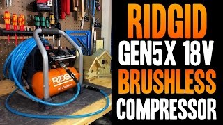 RIDGID Gen5X 18v Brushless Cordless Air Compressor - R0230